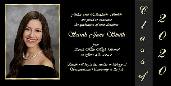 Graduation Announcement Style 4B